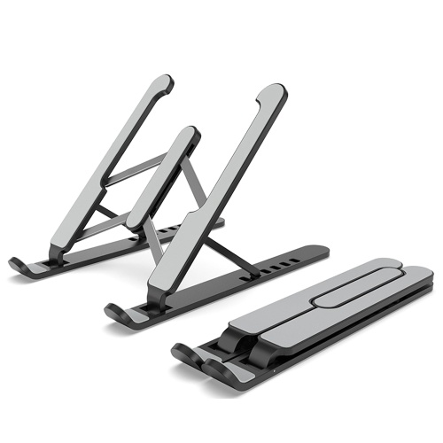 6-levels Height Adjustable Laptop Stand Computer Holder Bracket Portable Foldable Bendable Non-slip Notebook Holder for Home Office Daily Use Student