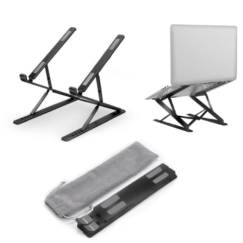 Foldable Portable Laptop Stand Adjustable Levels Double-layer Use