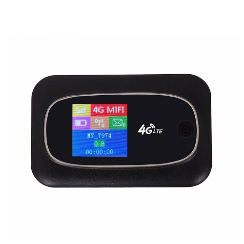 4G LTE CAT4 150 Mbit / s Mobiler WLAN-Hotspot Tragbarer WLAN-WLAN-WLAN-Router Tragbarer Router mit SIM-Kartensteckplatz Schwarz