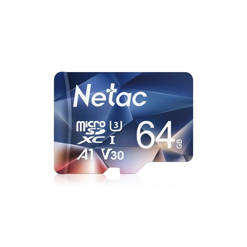 Netac P500 64GB TF Card Micro SD Card U3 V30 100MB/S High Speed Memory Card Camera Dashcam Monitors Micro SD Card