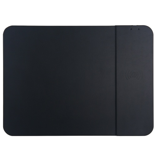 10W Wireless Charging Mouse Pad 2 in 1 Multifunctional Wireless Quick Charge Ultra-thin Non-slip Phone Charge Board Black