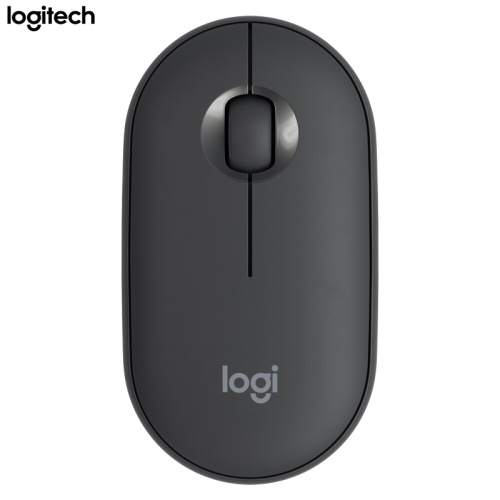 Logitech Pebble 2.4GHz Wireless Bluetooth Dual-mode Mouse Ergonomic Mute Mouse Plug and Play for PC Laptop Black