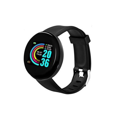 D18 1,3-дюймовый цветной сенсорный HD-экран Смарт-браслет Шагомер / Частота сердечных сокращений / Артериальное давление / Напоминание об уведомлениях Смарт-часы Синий