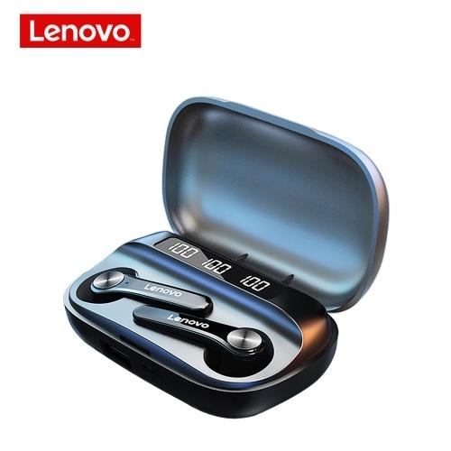 Lenovo QT81 TWS Wireless BT Headphone Semi-in-ear Sports Earbuds Waterproof Sweatproof Earphone with Digital Display Screen Black