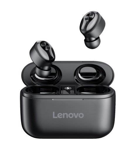 Lenovo HT18 Wireless BT Kopfhörer TWS In-Ear-Sport-Ohrhörer HiFi-Klangqualität Schweißfester Kopfhörer mit Geräuschreduzierung Schwarz