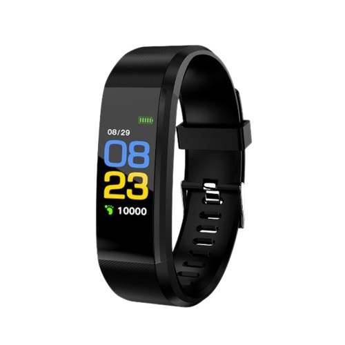 0.96-inch Touchscreen Smart Bracelet Sports Watch Waterproof Support Movement Track Heart Rate Monitor Information Push Black