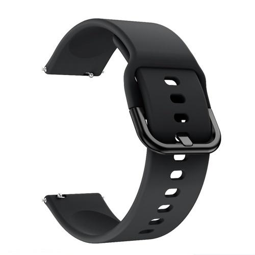 Сменный силиконовый ремешок для часов 20 мм / 22 мм Ремешок для часов с пряжкой Ремешок для часов Совместимость с Samsung Galaxy Watch Active2 Черный