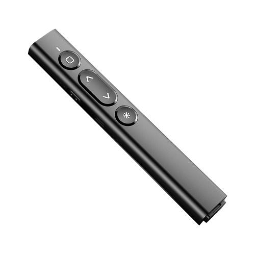 Мультимедийный пульт дистанционного управления Пульт для презентаций и мультимедиа с красным светом Беспроводной PPT Clicker Wide Совместимость Черный
