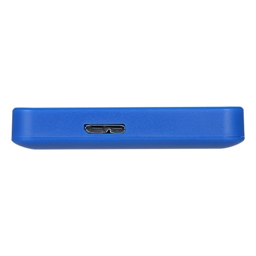 2.5inch Portable External Hard Drive USB 3.0 HDD High Transmitting speed/ Plug and Play/ for PC/Laptop/Desktop Blue 1TB