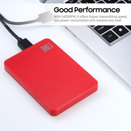2.5inch Portable External Hard Drive USB 3.0 HDD High Transmitting speed/ Plug and Play/ for PC/Laptop/Desktop Blue 500GB