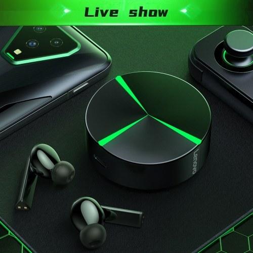 Lenovo GM1 True Wireless BT Kopfhörer E-Sport Gaming Kopfhörer In-Ear Sport Ohrhörer 65 ms Spiel / Musik mit geringer Latenz Dual Mode Schwarz