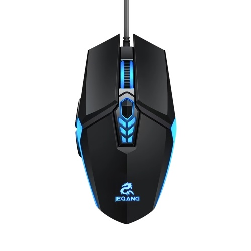 JM-518 6D Wired Gaming Mouse E-sports Gaming Mouse Ergonomic Mice with 4 Adjustable DPI 4-color Breathing Light Plug&Play