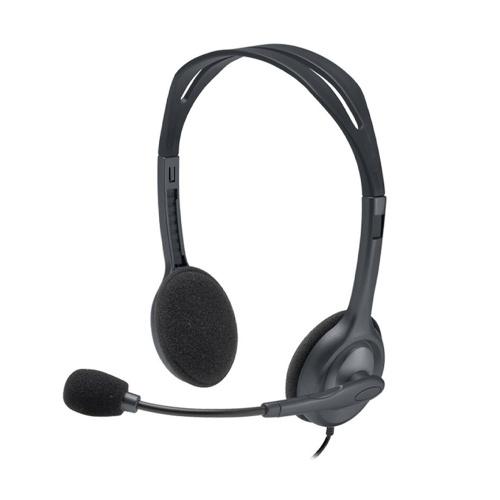 Головная стереогарнитура Logitech H110 с регулируемым шумоподавляющим микрофоном