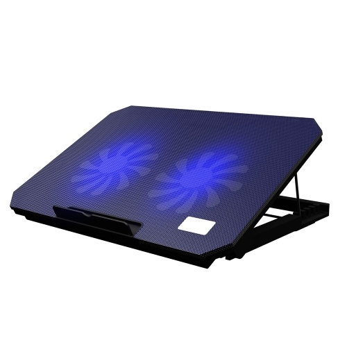 Laptop Cooler Laptop Cooling Stand Heat Dissipation Bracket with 4-gear Adjustable Height Dual Cooling Fans