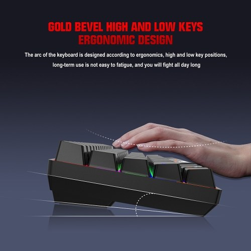 HXSJ L800 Three-mode Mechanical Keyboard 61 Keys RGB Keyboard Support BT5.0/2.4G/USB Wired Connection with Blue Switches