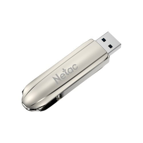 Netac U389 USB Flash Drive 256GB USB3.1 Gen1 Zinc Alloy U Disk High-speed Transmission 360° Rotatable Design Streamlined Appearance