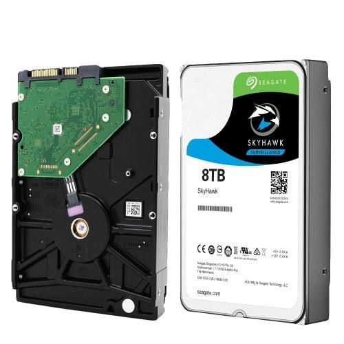 Seagate 8TB Video Surveillance HDD Internal Hard Disk Drive 7200 RPM SATA 6Gb/s 3.5-inch 256MB Cache ST8000VX0022