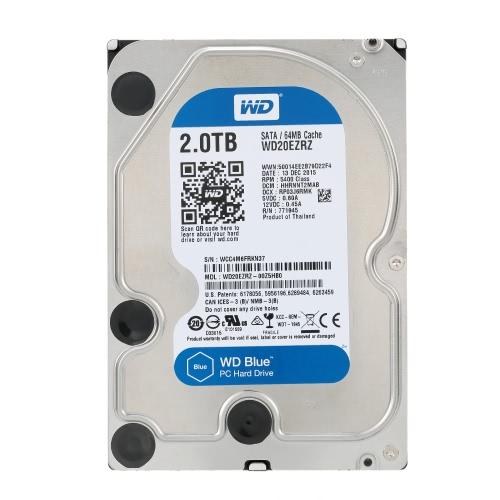 Western Digital WD Blu 2TB Desktop HDD Disco rigido interno