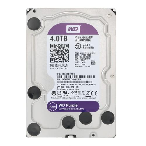 Western Digital 4TB Surveillance Hard Disk Drive SATA 6Gb/s WD40PURX