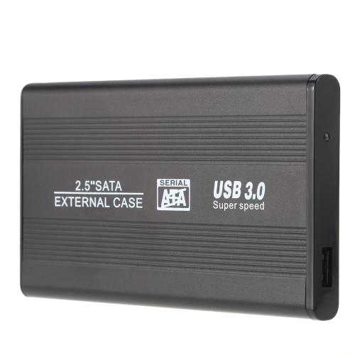 Portátil SuperSpeed USB 3.0 HDD SSD SATA de alumínio externo recinto caso 2.5