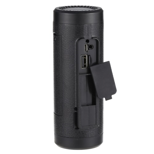 Portable Multifunctional Bluetooth Wireless Bicycle Cycling Outdoor Sports Speaker Flashlight FM Radio Power Bank