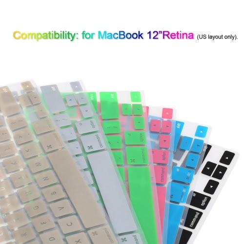 Silicona Anti-polvo ultrafino teclado portátil cubierta