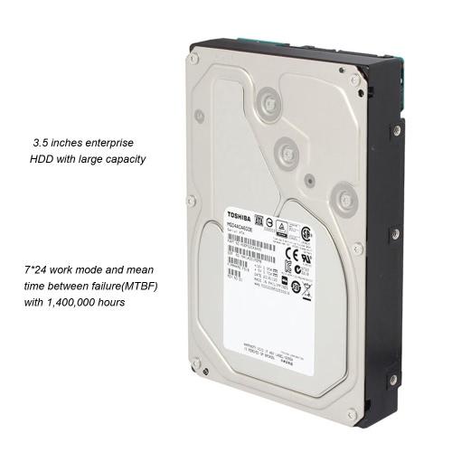 TOSHIBA 6TB Enterprise Hard Disk Drive 7200 RPM 3.5-inch SATA3.0 6Gb/s MG04ACA600E