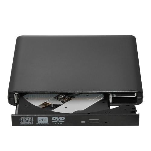 USB 3.0 Gravador de DVD portátil externo de DVD-RW / CD-RW Gravador de discos ópticos Rewriter CD Leitor de DVD ROM para PC portátil Desktop