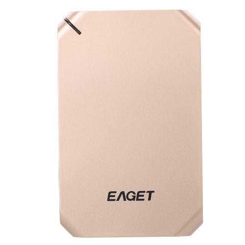 """EAGET G60 Disco rígido externo de 2,5 """"500 GB Super Speed HDD USB 3.0 Criptografia Disco rígido à prova de choque para PC portátil Desktop"""
