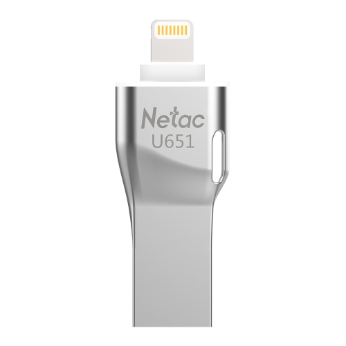Netac U651 32G USB3.0 Dual Interface Mini Flash Drive Memory Stick para iPhone / iPad / PC