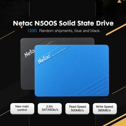 Netac N500S 60G/120G/240G/320G SATA6Gb/s 2.5in Solid State Drive 3D TLC Nand Flash