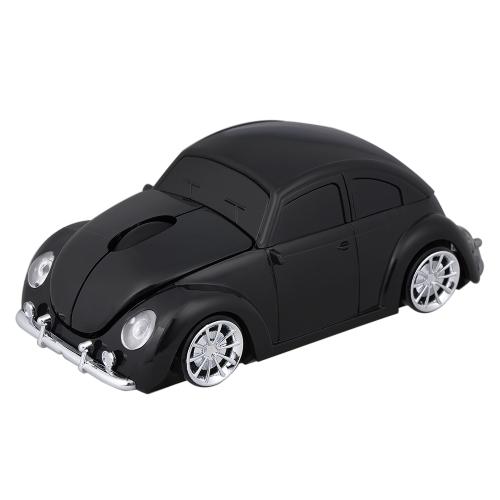 2.4G Mouse de carro sem fio USB Computador Mouses Car Shape 1000 DPI com LED Light Receiver para PC Laptop Red