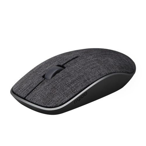 Rapoo 2.4G Wireless Silent Mouse Optical Fashion Ratos Soft Fabric Cover 1000 DPI para Mac PC Laptop Computer Office
