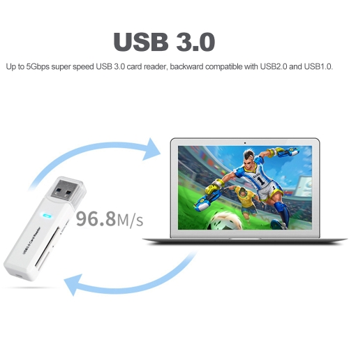 BUBM Memory Card Reader TF SD Card Reader USB 3.0 Adapter for PC Notebook Camera Black (C5188B) photo