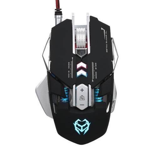 Kingangjia G560 Meccanico Definizione macro Mouse da gioco competitivo Mouse Registrabile 3200 DPI 7 Programma