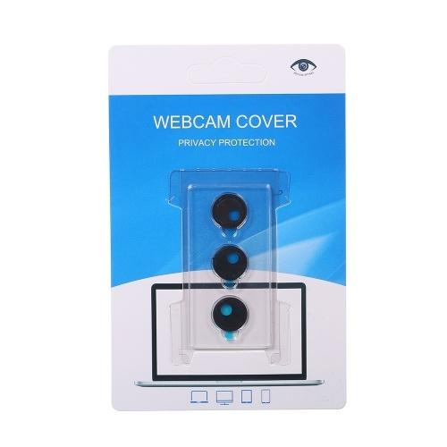 3PCSウェブカメラカバーシャッタープライバシープロテクタープラスチックスライダーカメラカバーウェブカメラのためのプライバシーステッカーiPad iPhone MacのPCラップトップ携帯電話ラウンド(ブラック)