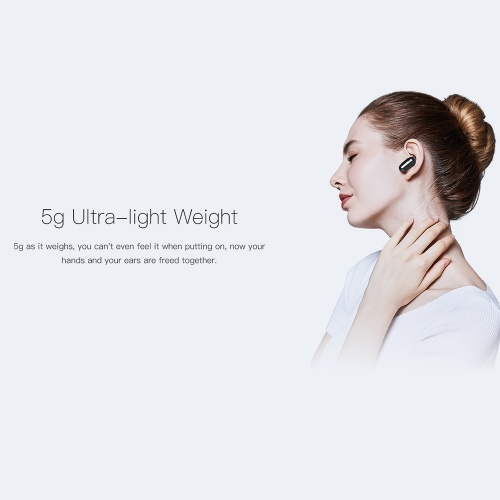 QCY Q12 Mini Wireless BT Earphone Ultra Light Headphone Tri-button BT 5.0
