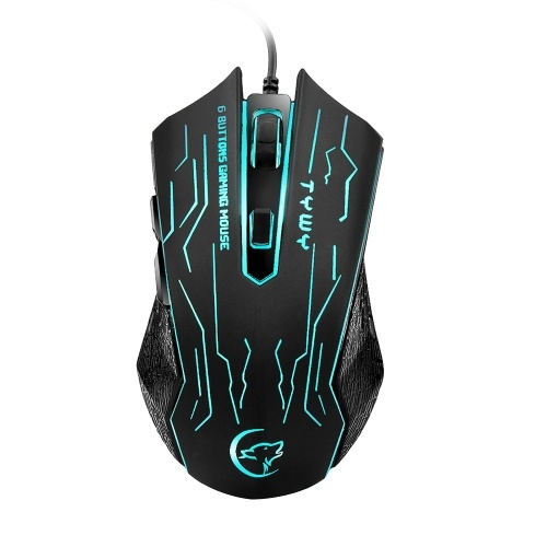 G820 Wired Gaming Mouse 7 Backlights 6 Buttons 3200 Optical DPI