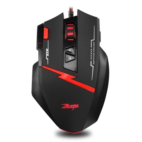 Zelotes C-8 Mouse Gaming Mouse Wired Optical Portable Mouse 2500 DPI Adjustable 8 Buttons Backlight Mice