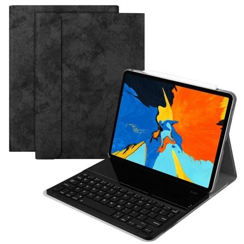 SK1102 Tastiera Tastiera intelligente Custodia Cover Flip Tastiera BT wireless Custodia Tastiera in vetro temperato staccabile Custodia in pelle Smart Cover per iPad Pro 11