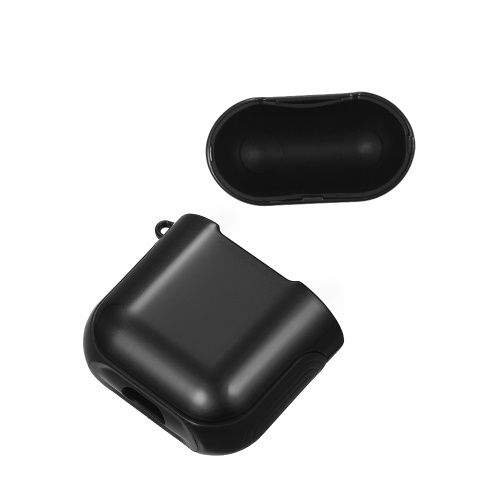 ТПУ силиконовый чехол для наушников Защитный чехол для Airpods Ударопрочный водонепроницаемый протектор для Apple AirPods AirPod Аксессуары Гладкая поверхность (черный) фото