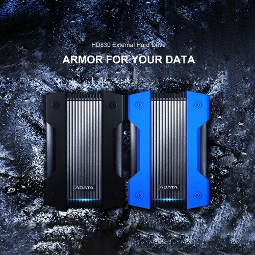 ADATA HD830 Внешний жесткий диск Портативный жесткий диск 5 ТБ USB3.1 Антишоковое шифрование данных для путешествий (синий) фото