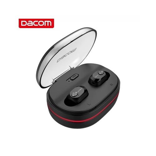 Dacom K6H Pro TWS BT5.0 Fones De Ouvido Sem Fio Mini Fone De Ouvido Estéreo com Microfone De Microfone Interno HD e Caso De Carregamento Portátil Para iOS Android Windows (preto)