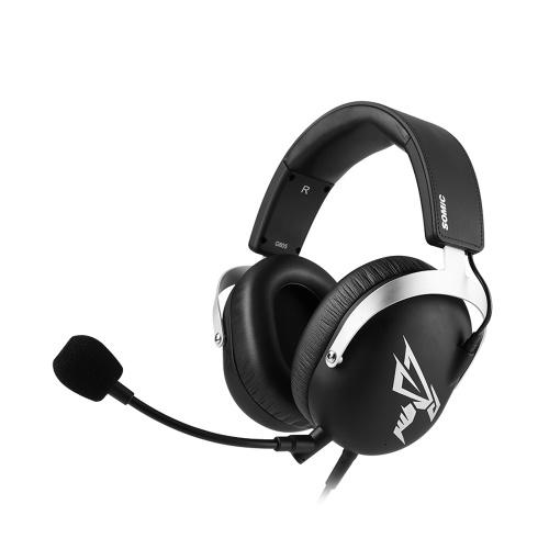 Somic G805 USB Gaming Wired Headset 7.1 Surround Sound Cuffie con microfono collegabile (nero)