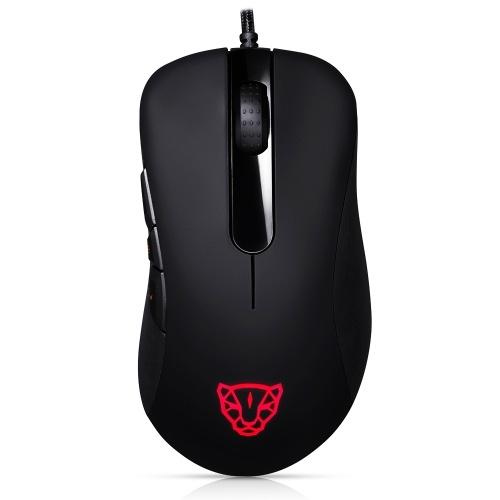 Motospeed V100 USB professionale mouse da gioco cablato mouse Esport mouse da gioco 6200 DPI luce RGB per PC portatile (nero)