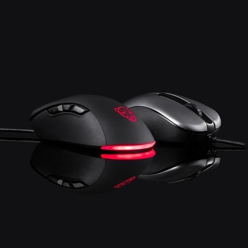Motospeed V100 Профессиональная USB Проводная игровая мышь Esport Game Мыши 6200DPI RGB Light для портативных ПК (черный) фото