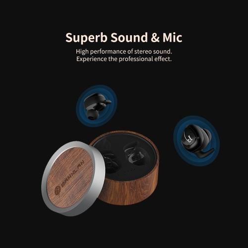 Wireless BT Earbud Mini Earphone Sports Earphone Compact and Comfortable HD Sound (Black)