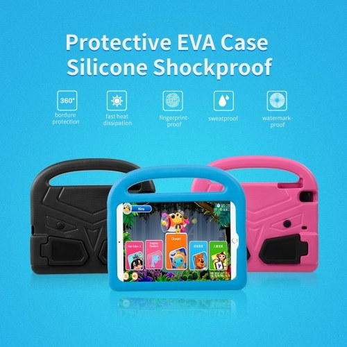 Protective EVA Case for Mini Pad 1/2/3/4 Silicone Shockproof Handle Case Screen Protector for Kids (Black)