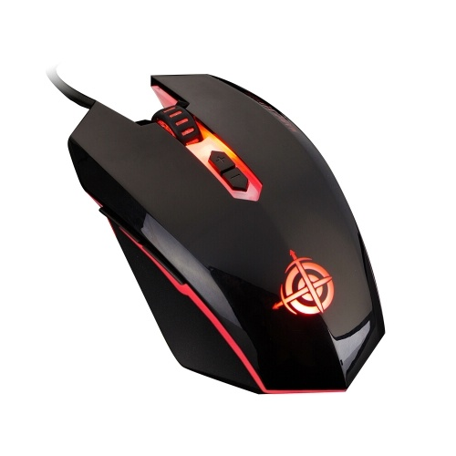 MAGIC-REFINER MG5 USB Wired Gaming Mouse Game Mice LED Breathing Light 2000DPI Adjustable for PC Laptop(Black)