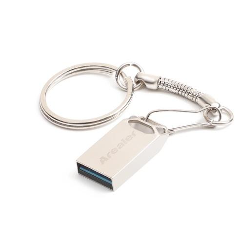 Arealer USB Flash Drive USB3.0 Mini Portable U Disk 16GB Pendrives Car Pen Drive for PC Laptop (Gold)